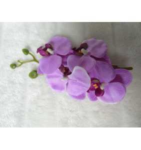 """Pince clip à cheveux branche d'orchidées violettes """"Purple orchid"""""""