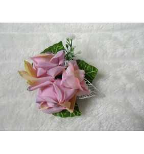 "Pince clip à cheveux et broche roses vieux rose ""Pin-up roses"""