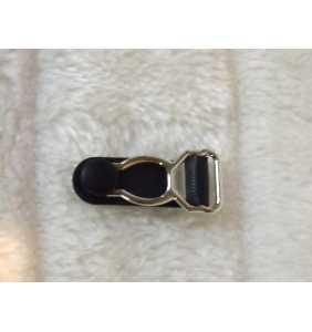"""Pince en métal et plastique noir à l'unité pour fabrication de porte-jarretelle """"Do it yourself suspender"""""""