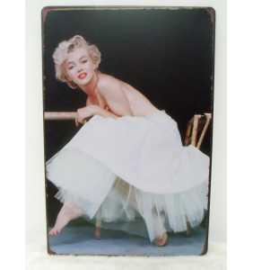 """Plaque murale en métal Marilyn Monroe """"Petticoat glamour"""""""