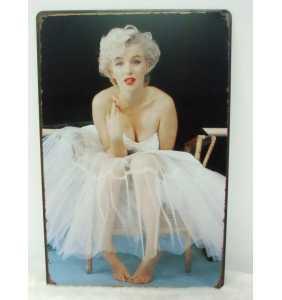 "Plaque murale en métal Marilyn Monroe ""Petticoat serious"""