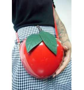 """Sac à main en forme de pomme rouge """"Pomme d'api"""""""