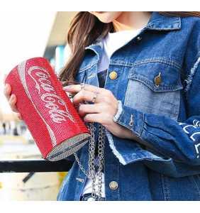 """Sac à main minaudière canette de soda en strass rouge """"Shiny yummy cola bag"""""""