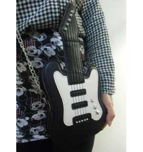 """Sac à main noir forme guitare électrique """"Rock'n bag"""""""
