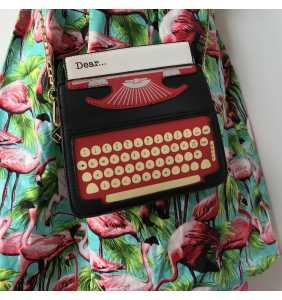 "Sac à main machine à écrire en simili cuir ""My dear typewriter..."""