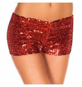 """Shorty en sequin rouge """"Red sequined panty"""""""
