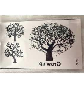 """Petite planche de tatouages temporaires arbres """"Only trees"""""""