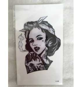 "Tatouage temporaire ""Marilyn bad girl"""