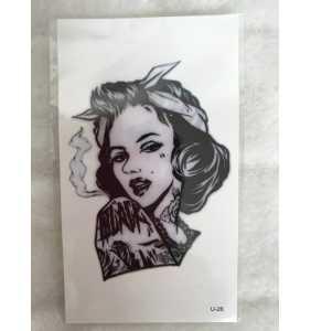 "Tatouage temporaire ""Marilyn bad girl"""