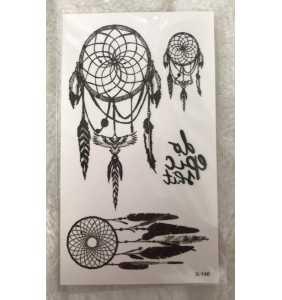 """Petite planche de tatouages temporaires dreamcatchers """"In my dreams"""""""