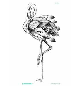 """Tatouage temporaire flamant rose """"Flamingo tattoo"""""""