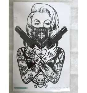 """Tatouage temporaire """"Marilyn gangster"""""""