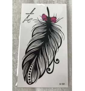 "Petite planche de tatouages temporaires plume girly ""Sweet feather"""
