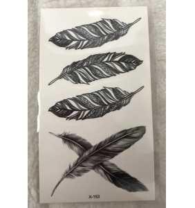 """Petite planche de tatouages temporaires plumes """"Feathers fevers"""""""